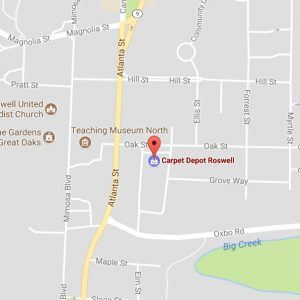 Carpet Depot Roswell GA map