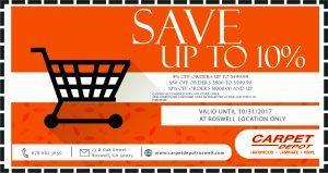 Carpet Depot coupon october