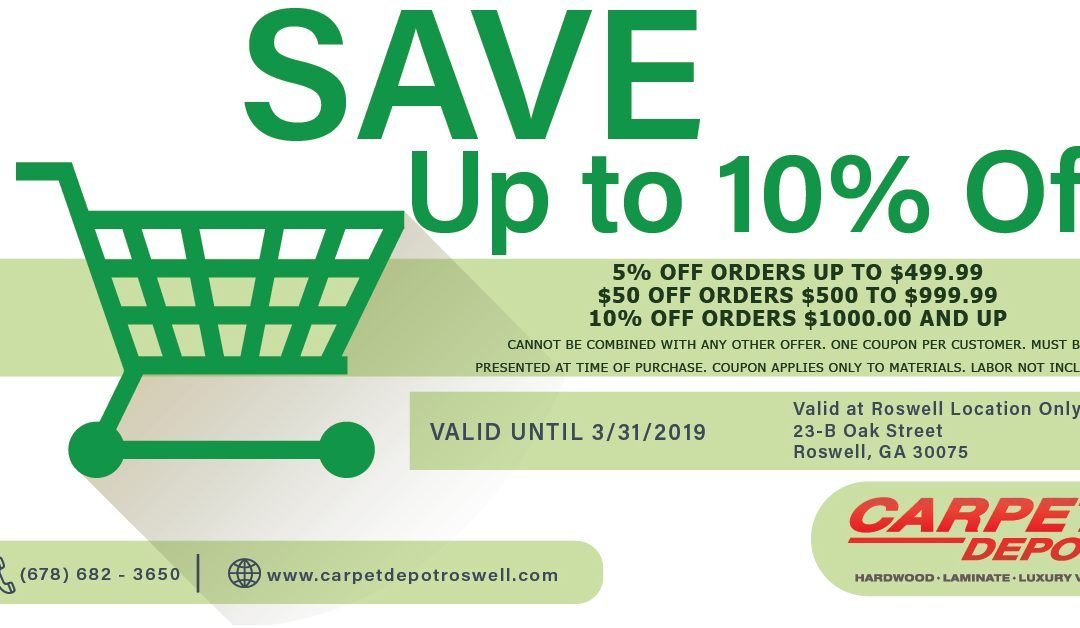 March 2019 Coupon