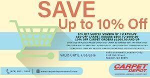 April 2019 Carpet Coupon Roswell