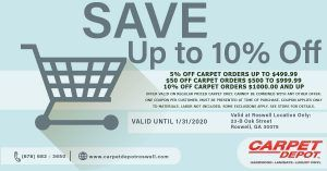 January 2020 Carpet Coupon Roswell