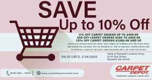 February 2020 Carpet Coupon Roswell