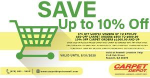 May 2020 Carpet Coupon Roswell