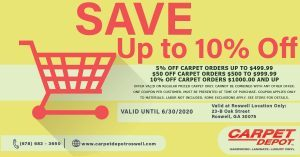 June 2020 Carpet Coupon Roswell