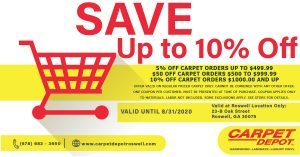 August 2020 Carpet Coupon Roswell