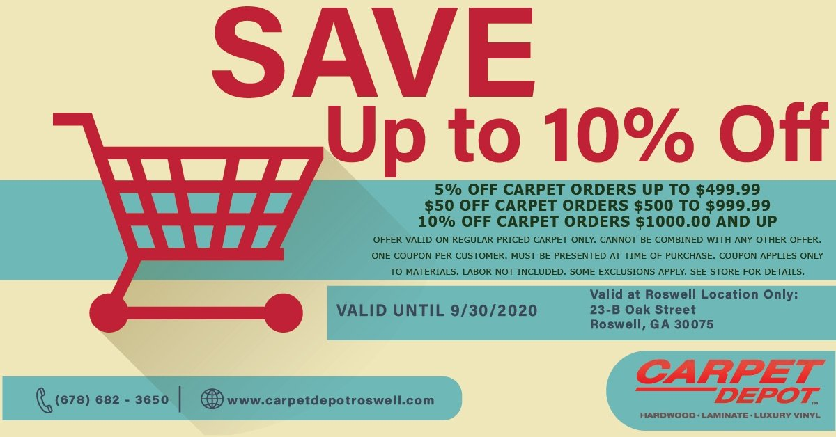 September 2020 Carpet Coupon Roswell
