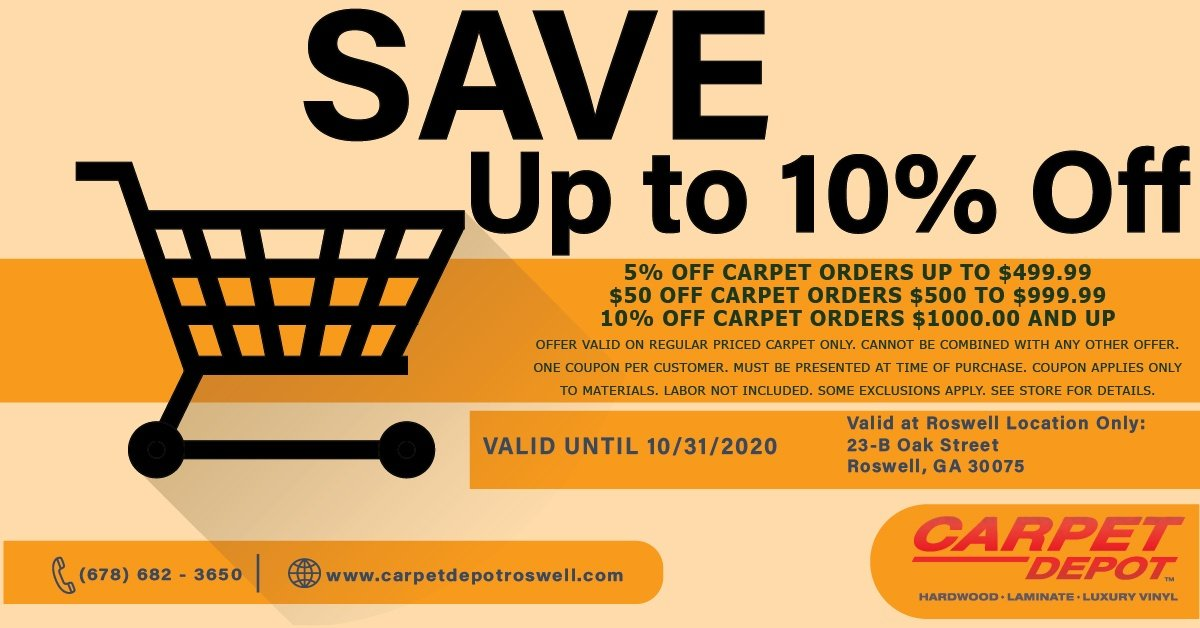 October 2020 Carpet Coupon Roswell