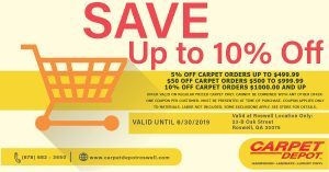 June 2019 Roswell Coupon Carpet