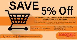 October 2019 Hard Surface Order Coupon Roswell