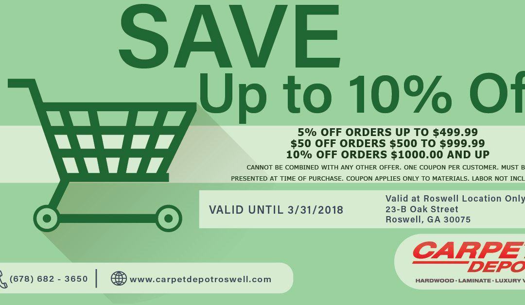 March 2018 Coupon